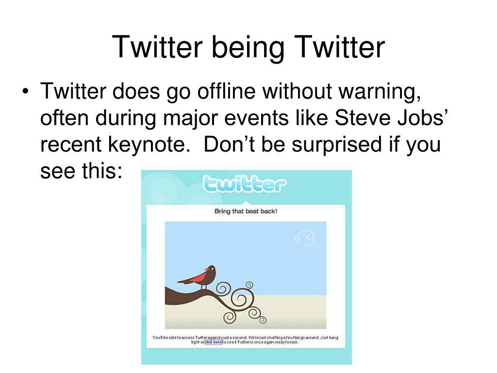 Twitter being Twitter