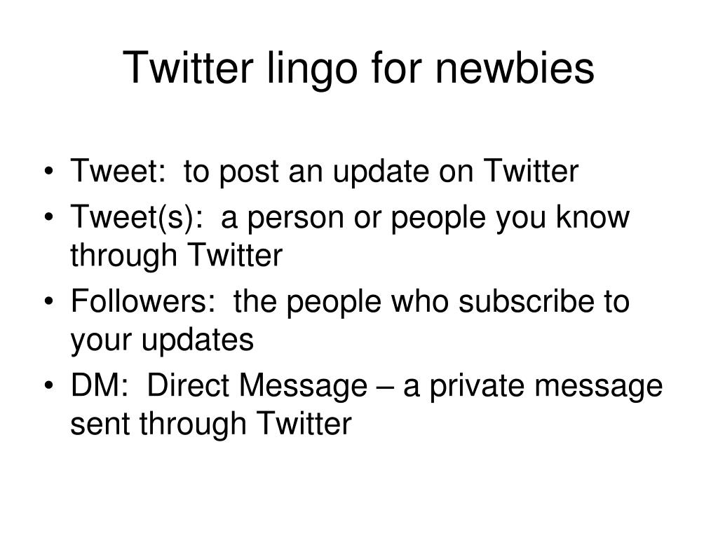 Twitter lingo for newbies