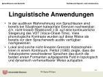 linguistische anwendungen