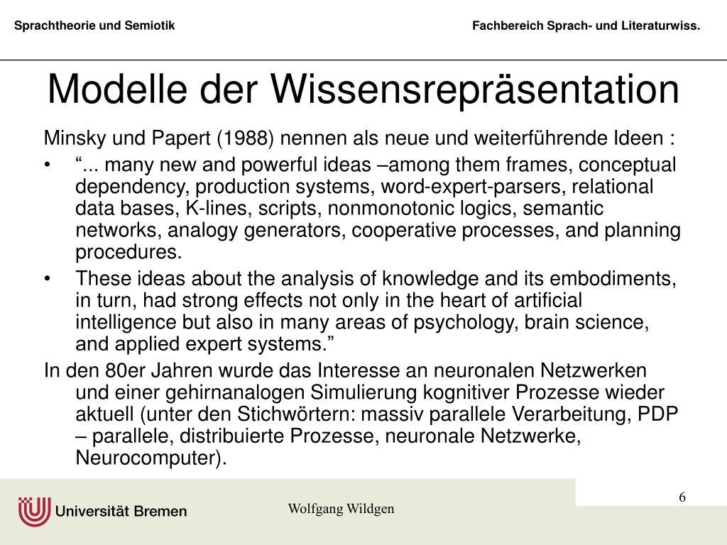 Modelle der Wissensrepräsentation