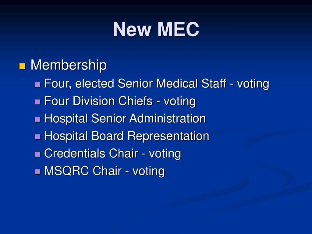 New MEC