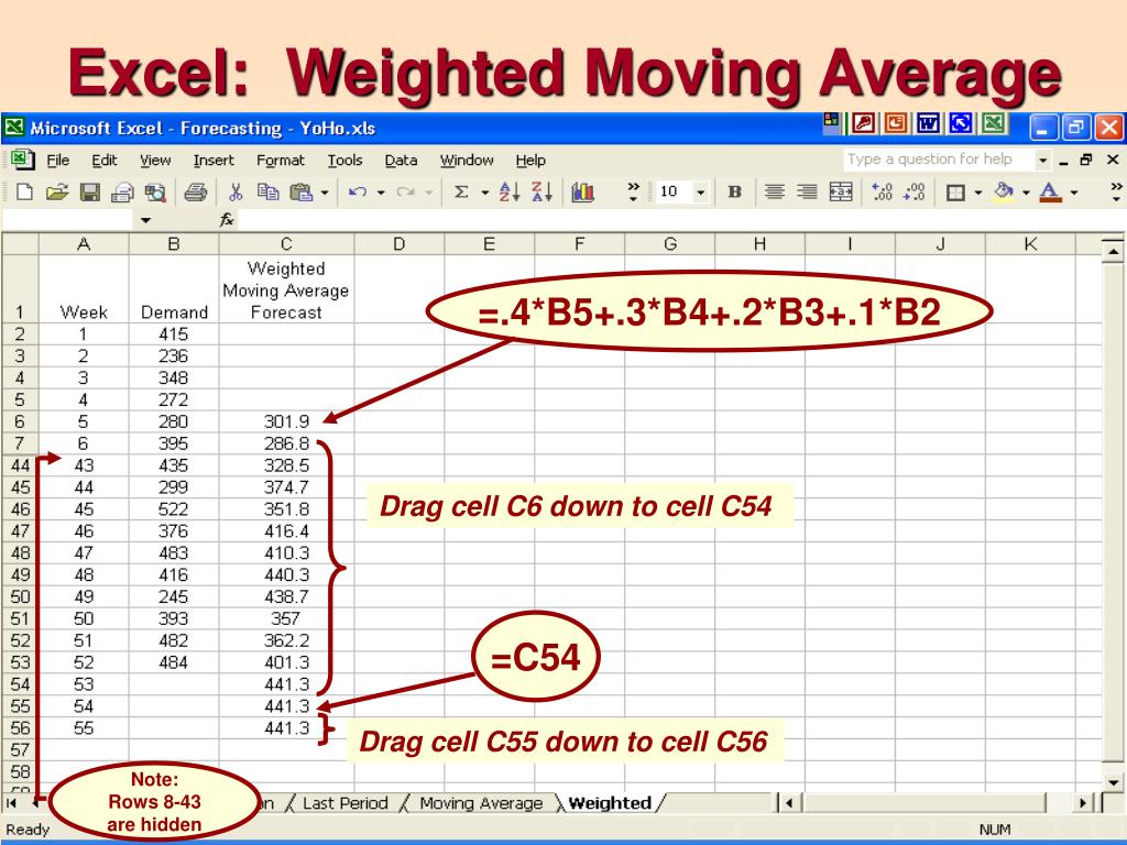 how to find weighted average in excel