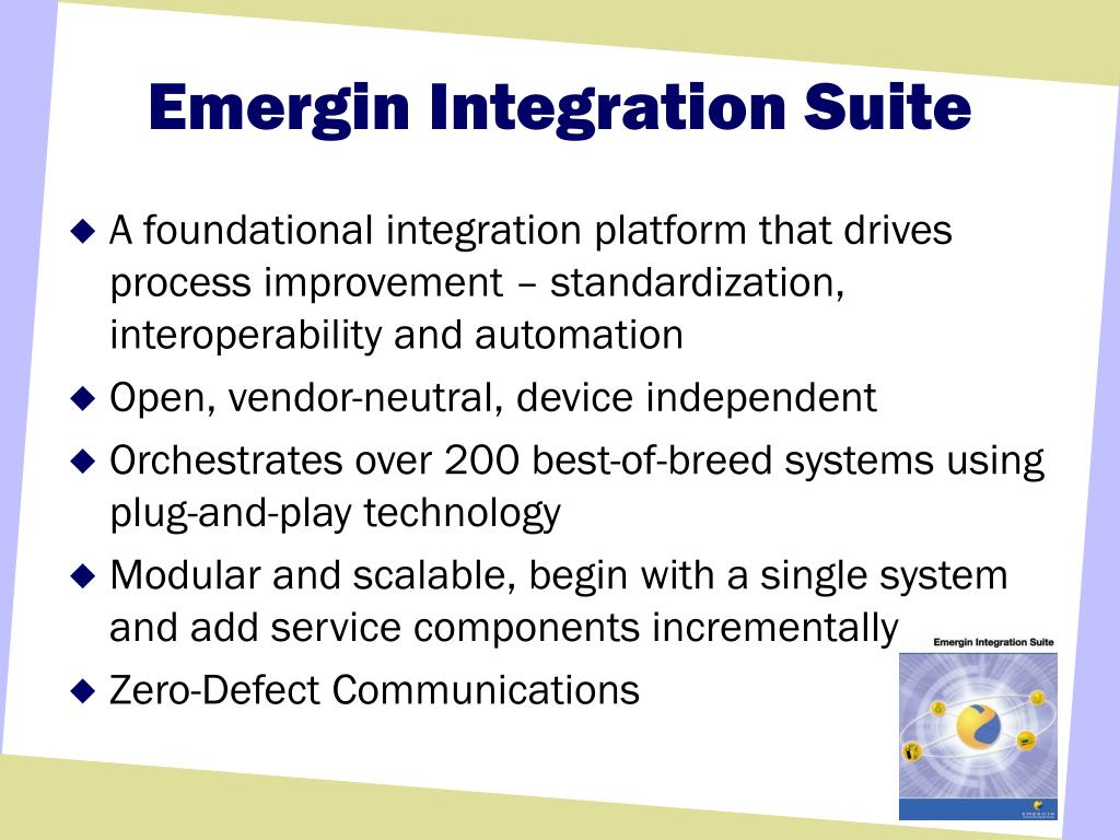 Emergin Integration Suite