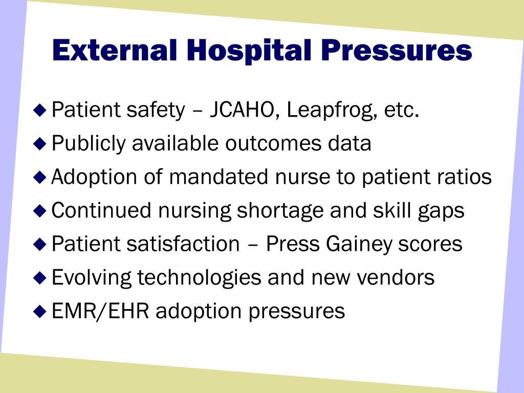External Hospital Pressures