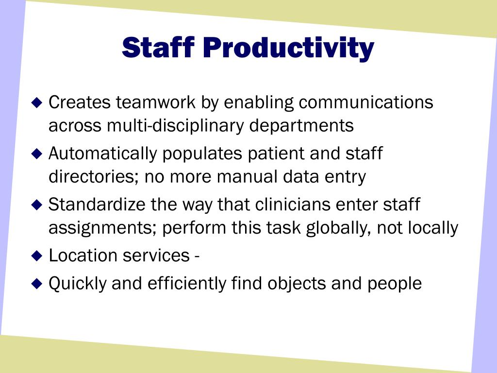 Staff Productivity