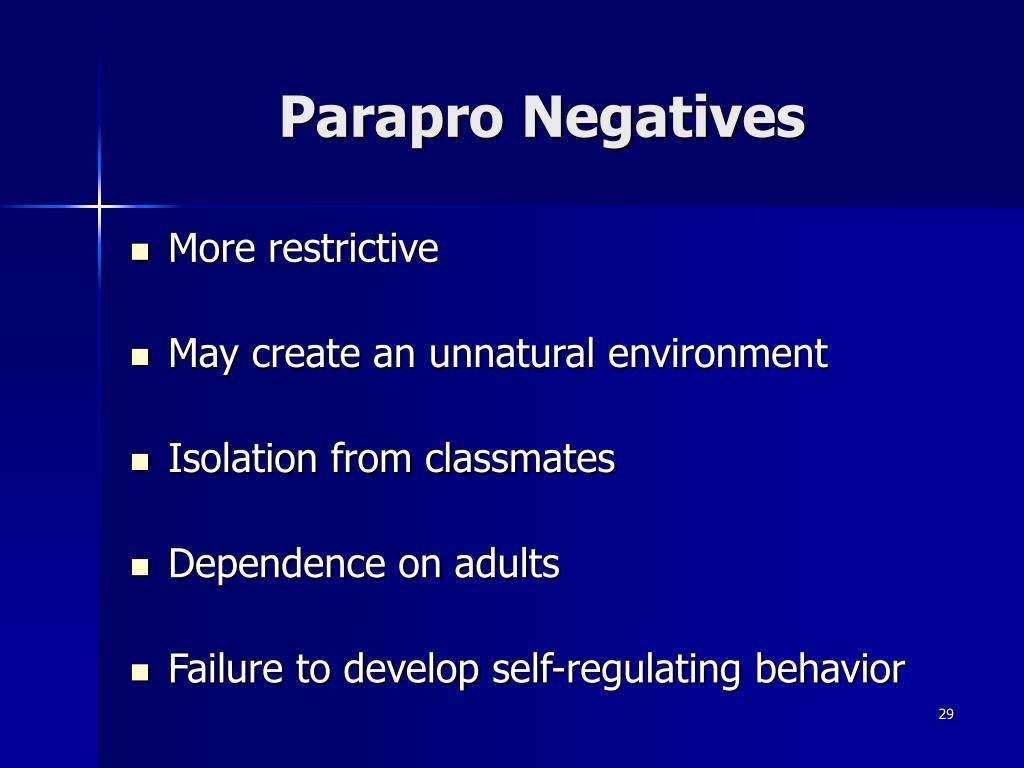 Parapro Negatives