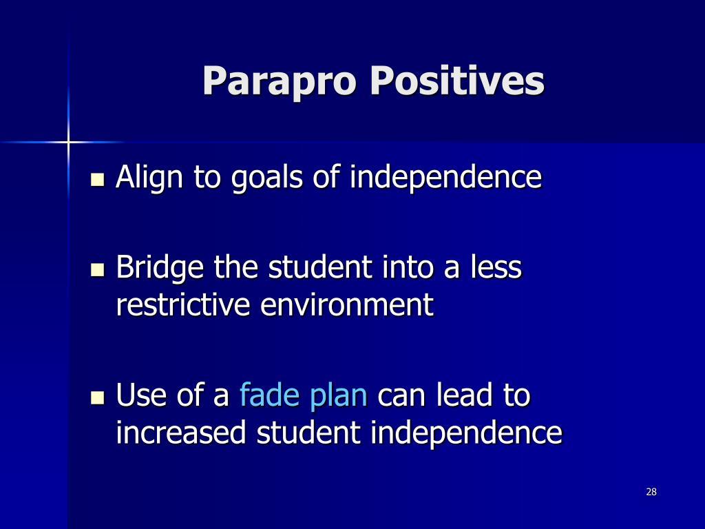 Parapro Positives