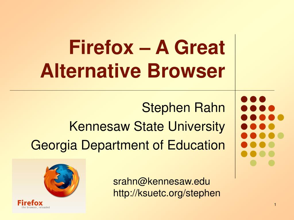 Firefox – A Great Alternative Browser