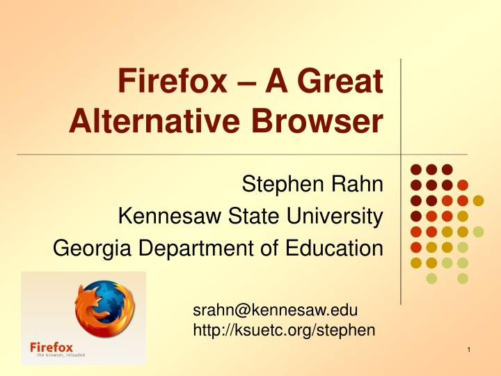 Firefox a great alternative browser l.jpg