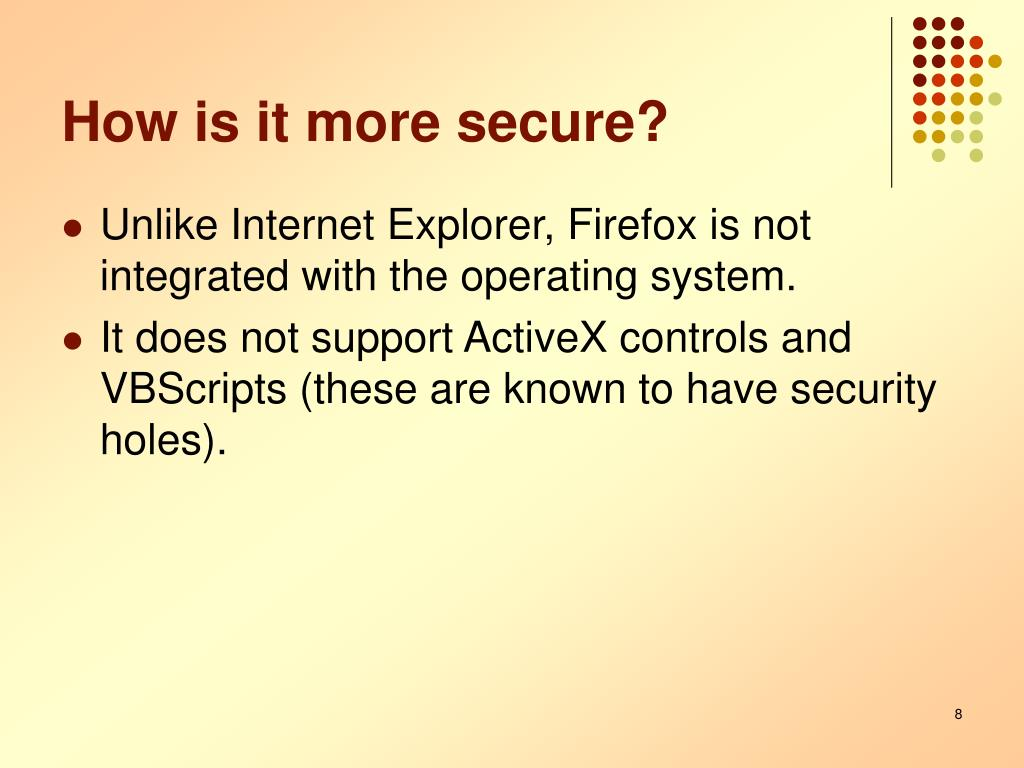 How is it more secure?