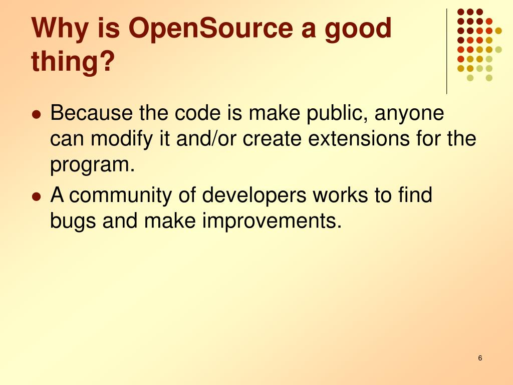 Why is OpenSource a good thing?