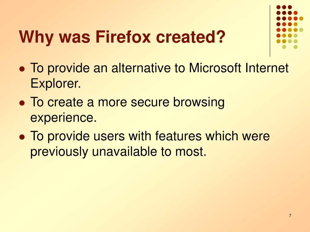 Why was Firefox created?