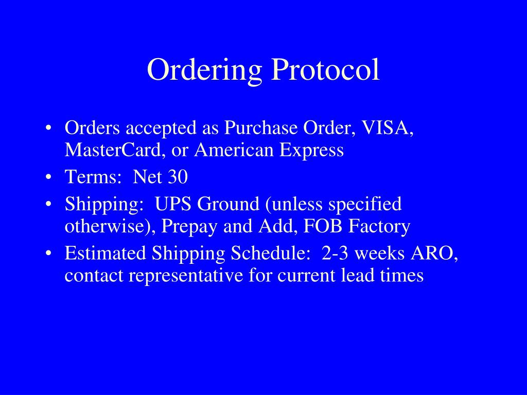 Ordering Protocol