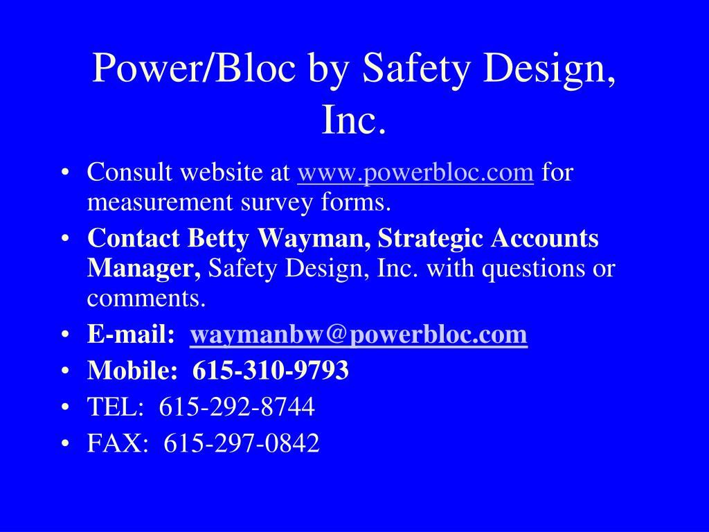 Power/Bloc by Safety Design, Inc.