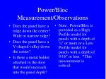 power bloc measurement observations