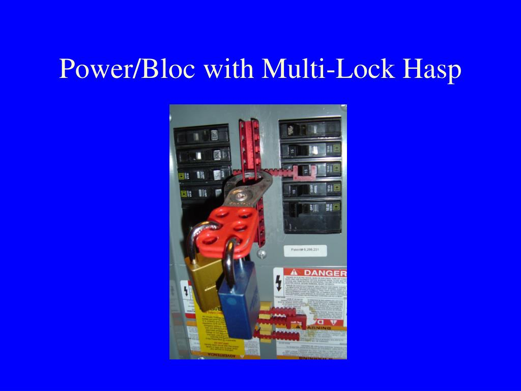 Power/Bloc with Multi-Lock Hasp