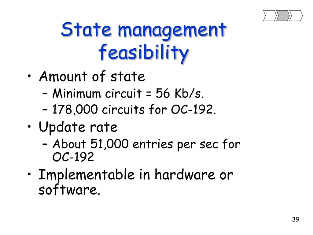 State management feasibility