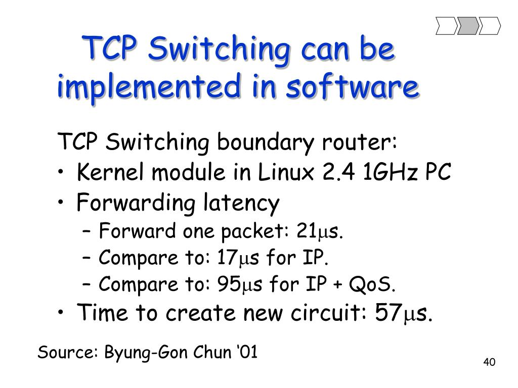 TCP Switching can be implemented in software