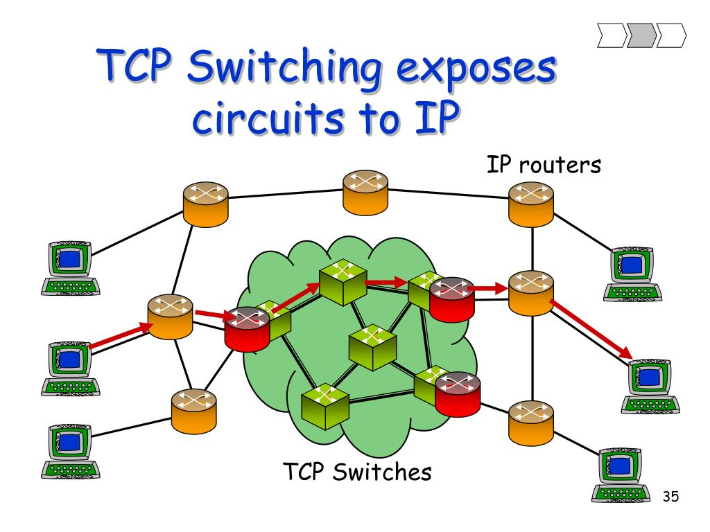 TCP Switching exposes circuits to IP