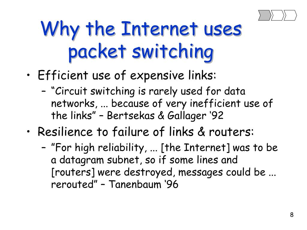 Why the Internet uses