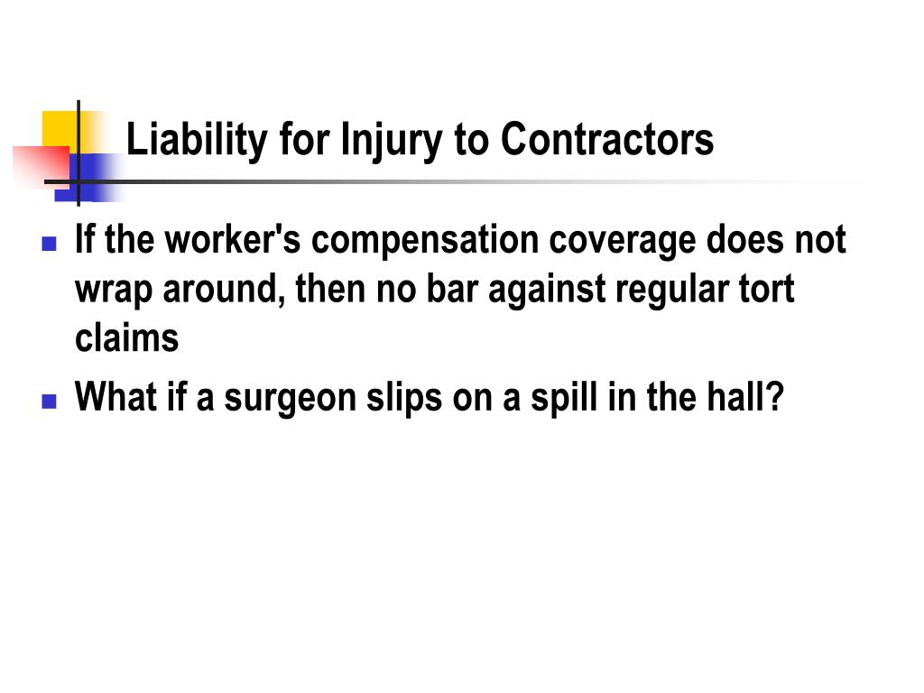 Liability for Injury to Contractors