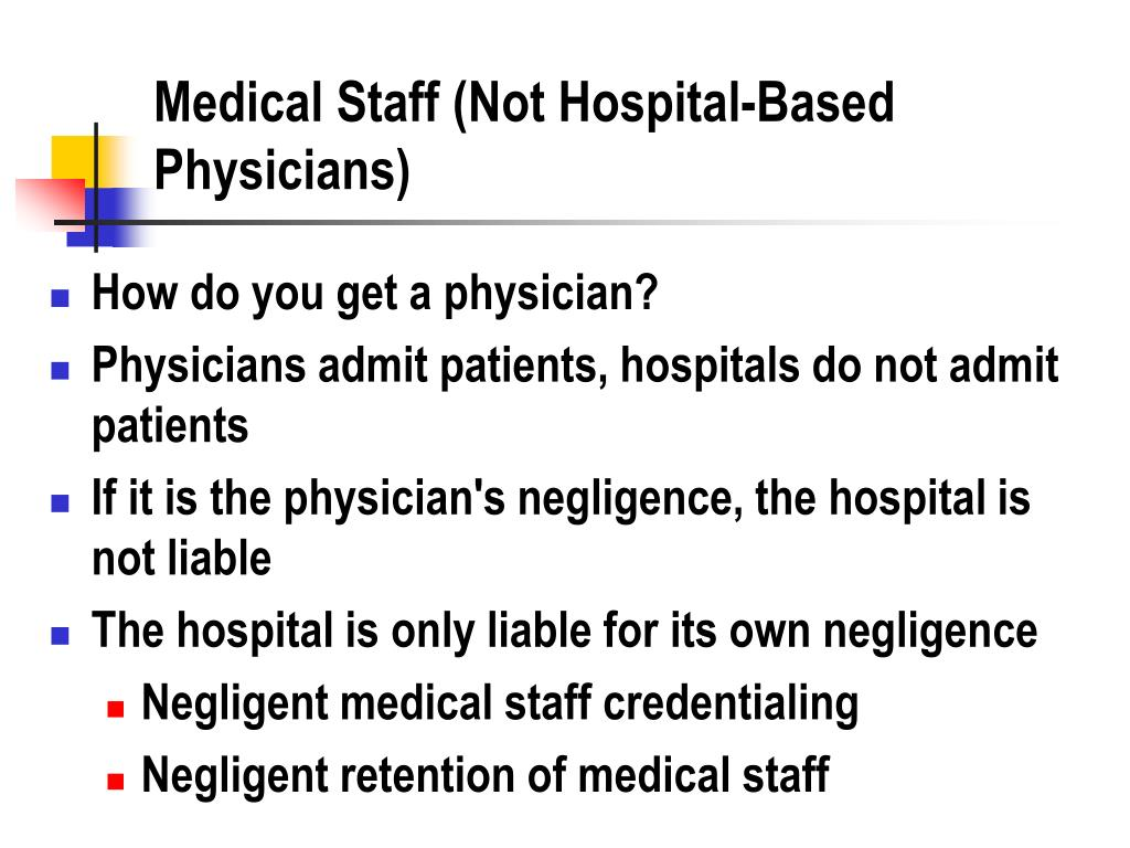 Medical Staff (Not Hospital-Based Physicians)