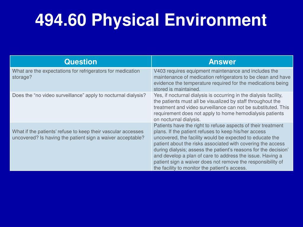 494.60 Physical Environment