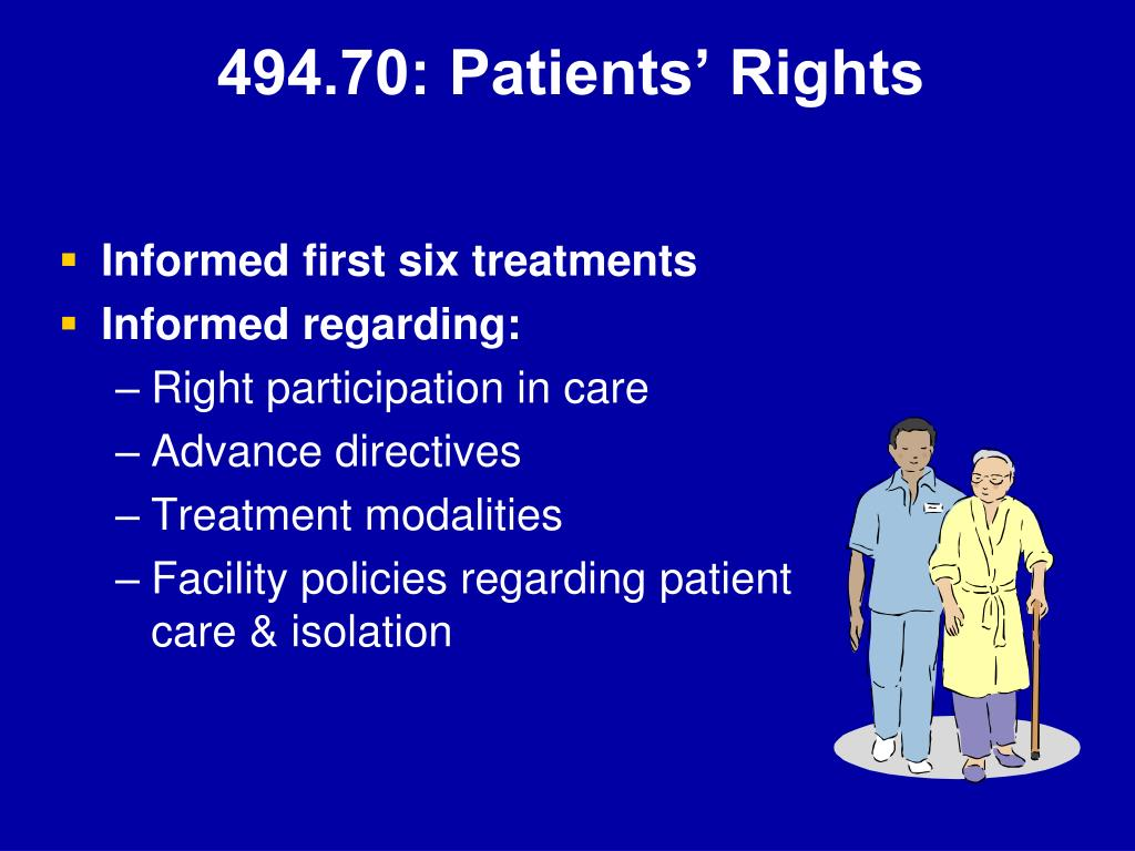 494.70: Patients' Rights