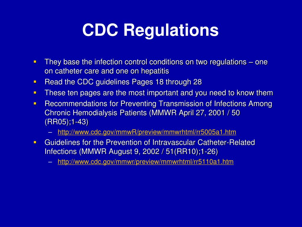 CDC Regulations