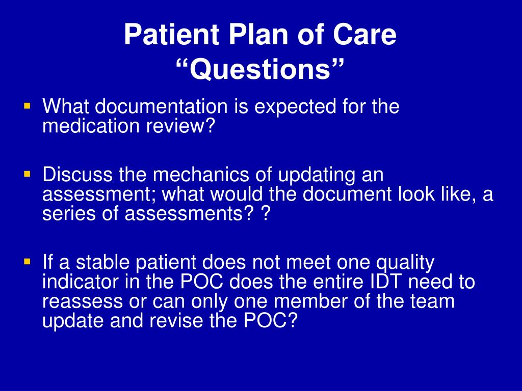 Patient Plan of Care