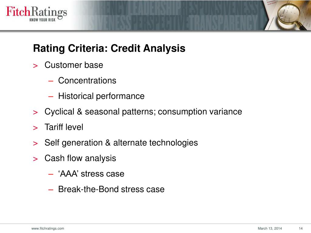 Rating Criteria: Credit Analysis