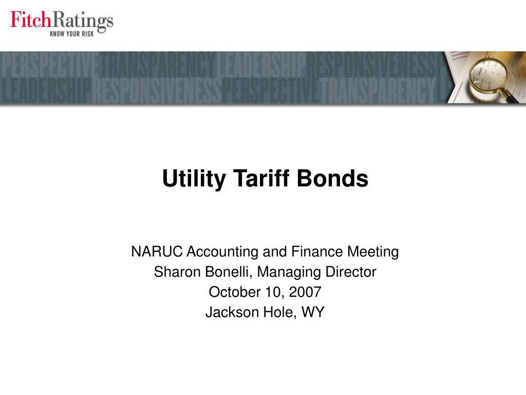Utility Tariff Bonds