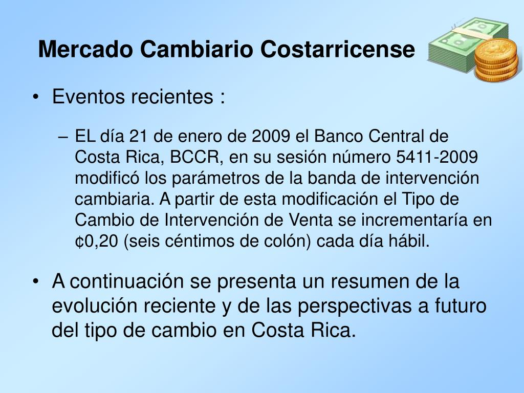 Mercado Cambiario Costarricense