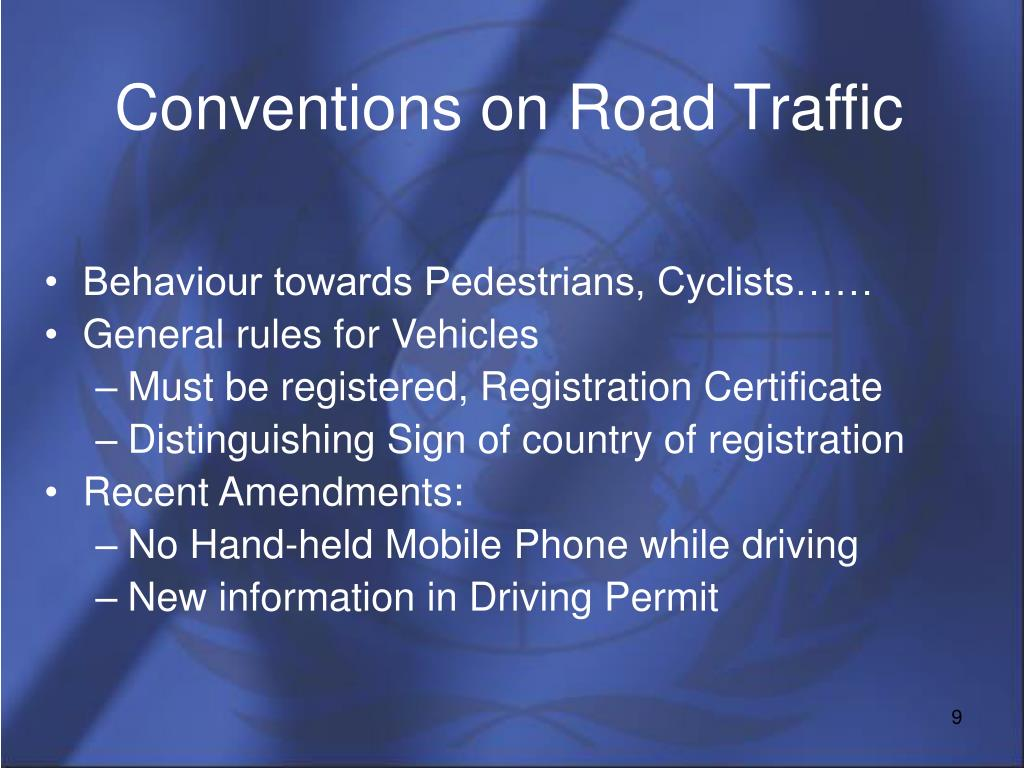 Conventions on Road Traffic
