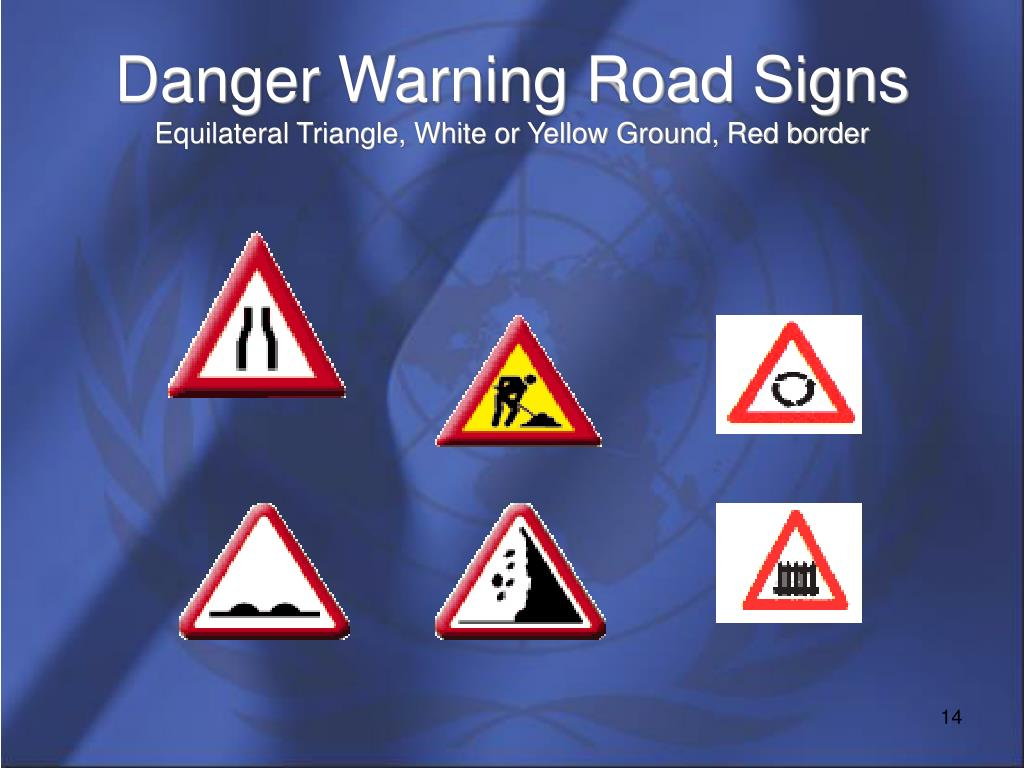 Danger Warning Road Signs