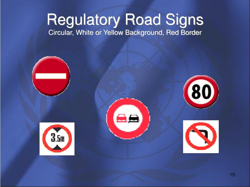 Regulatory Road Signs
