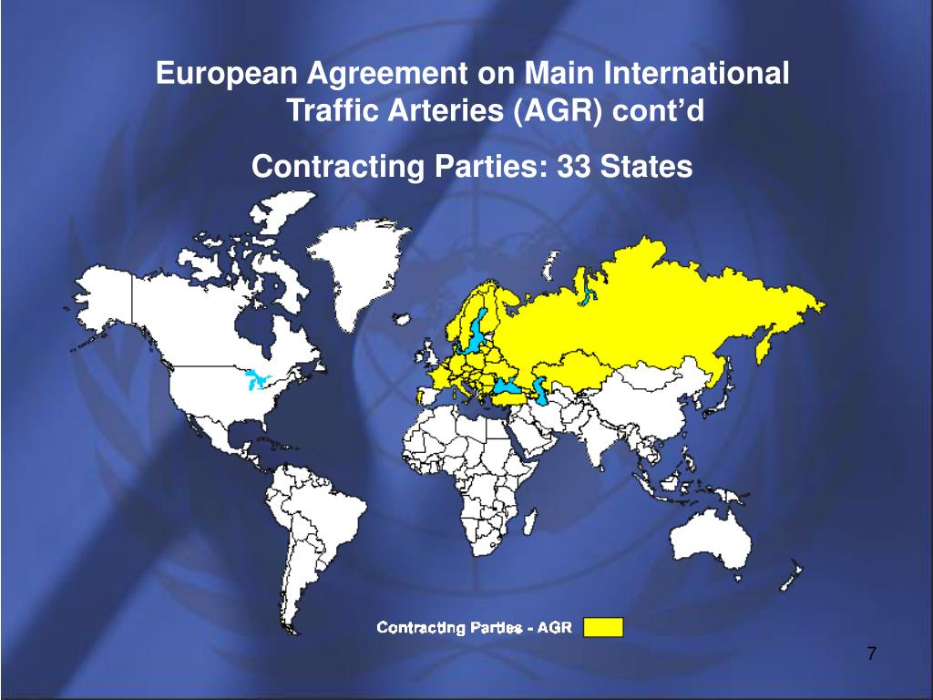 European Agreement on Main International Traffic Arteries (AGR)