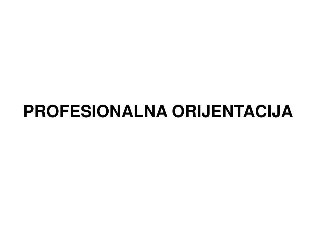 PROFESIONALNA ORIJENTACIJA
