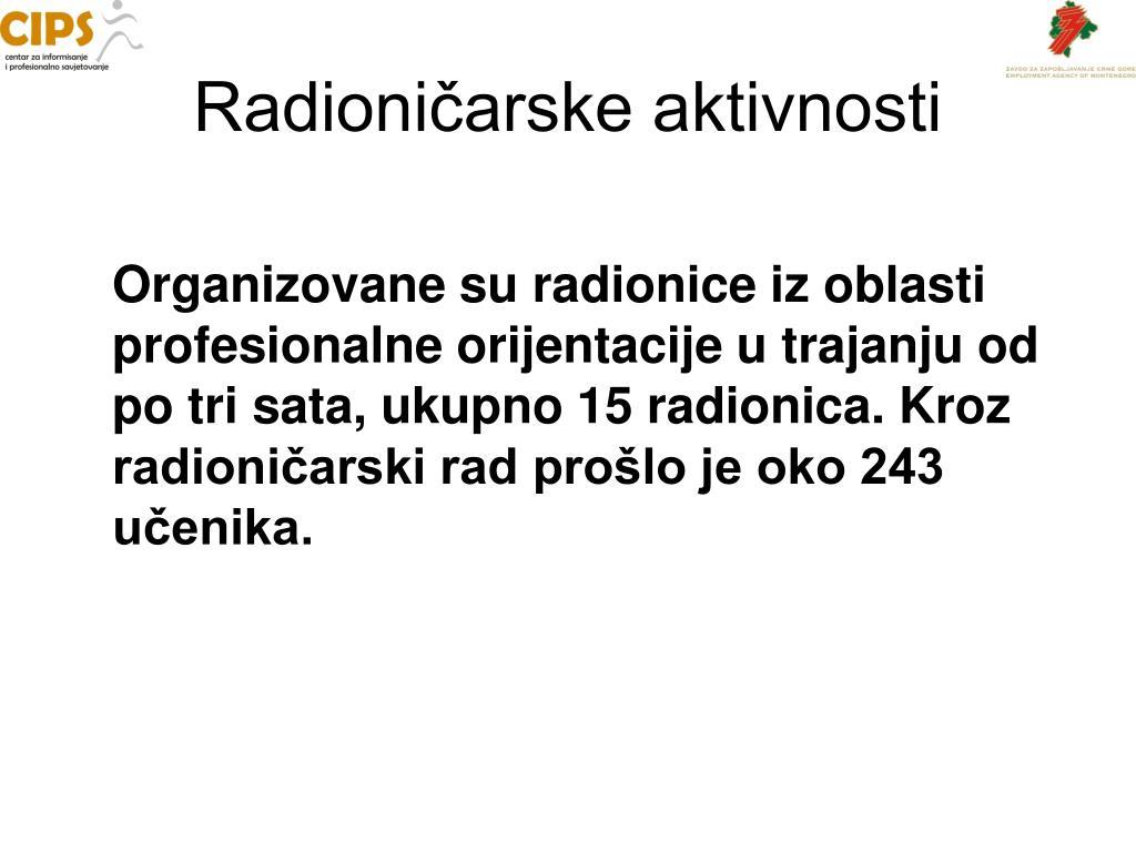Radioničarske aktivnosti