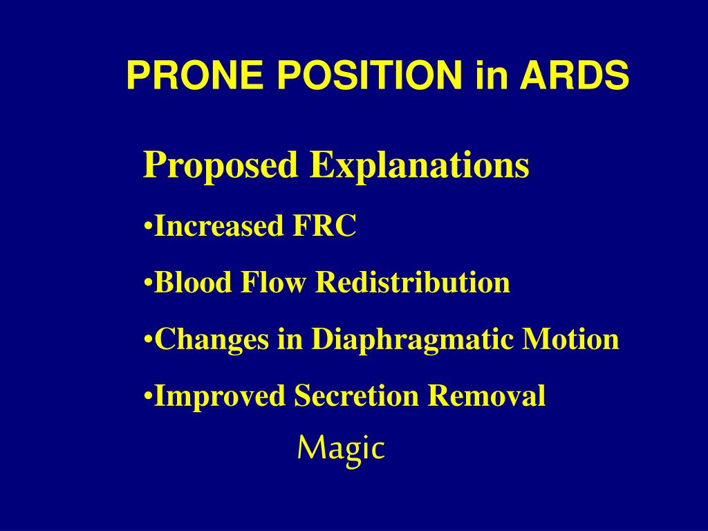 PRONE POSITION in ARDS