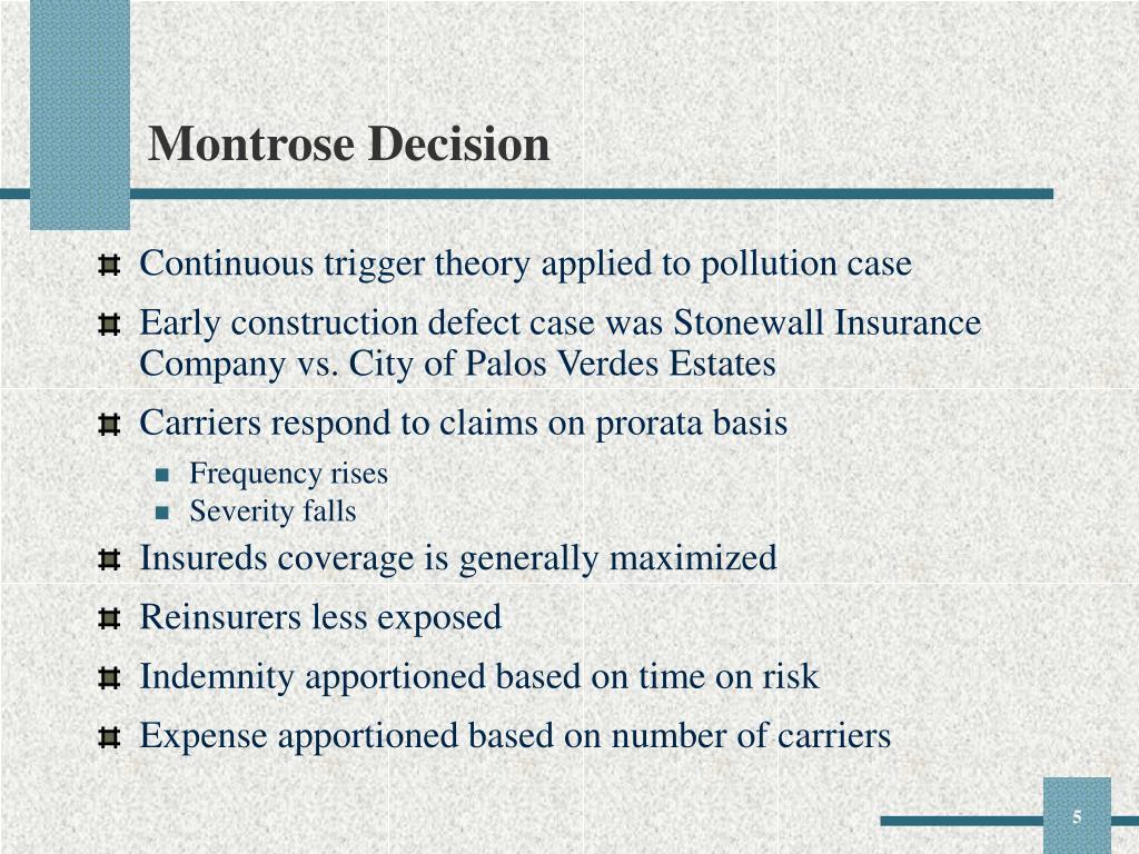 Montrose Decision