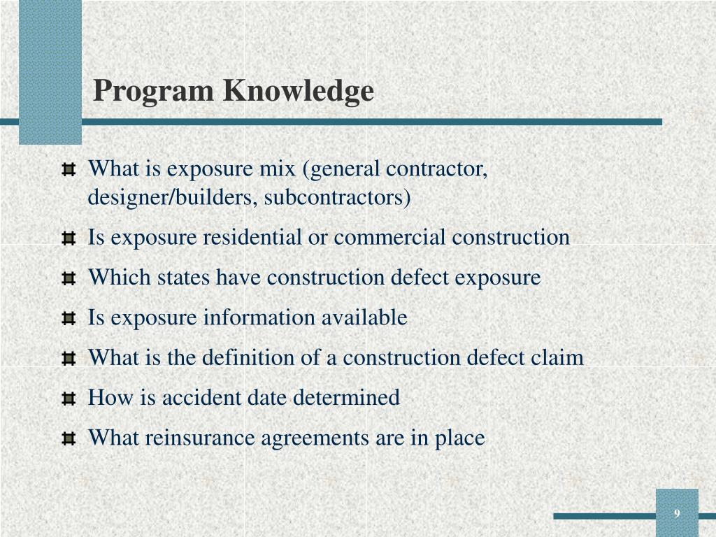 Program Knowledge
