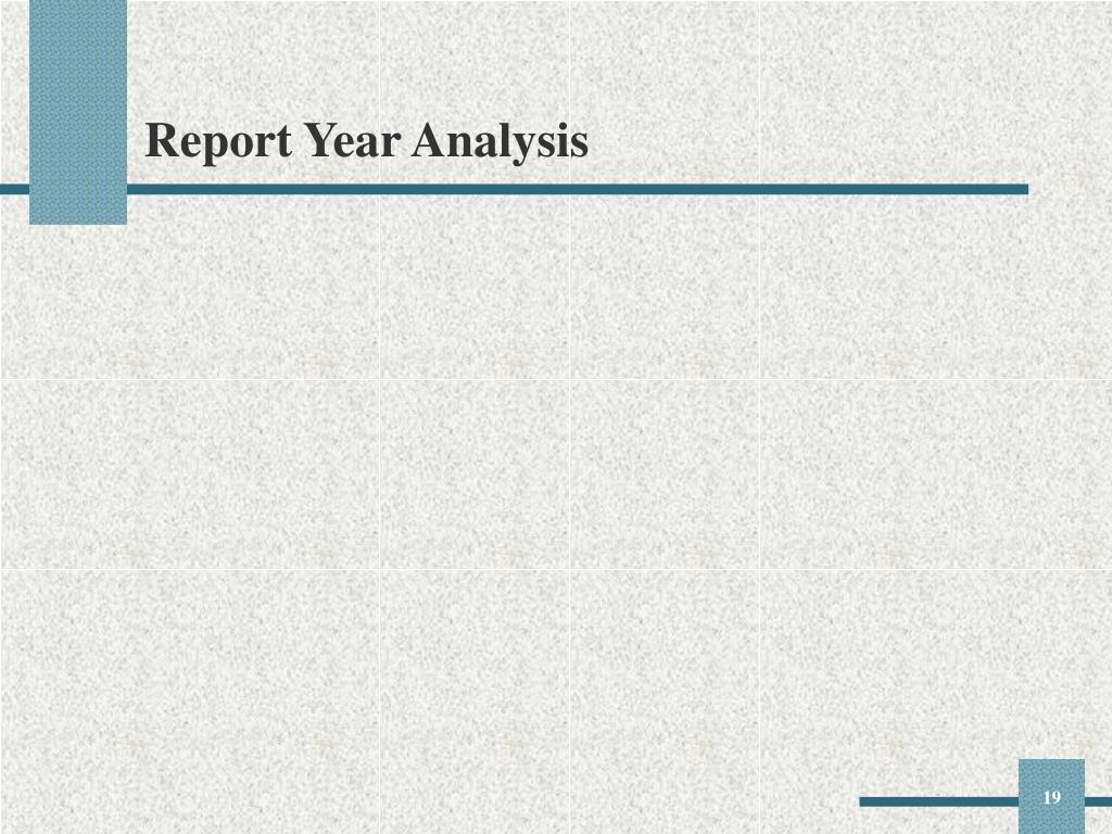 Report Year Analysis