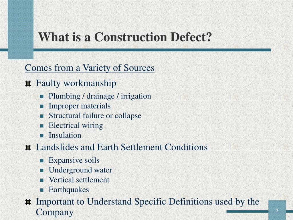 What is a Construction Defect?