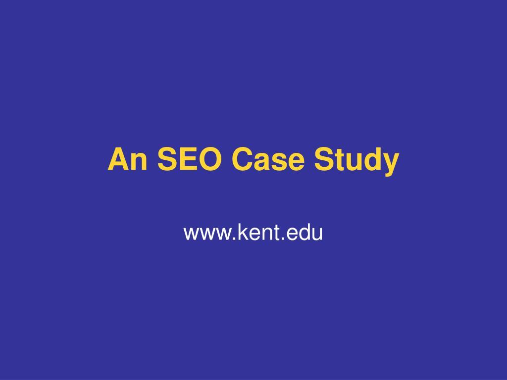 An SEO Case Study