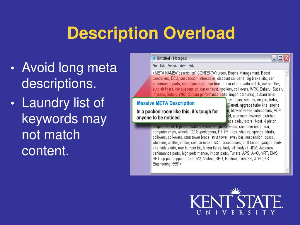 Description Overload