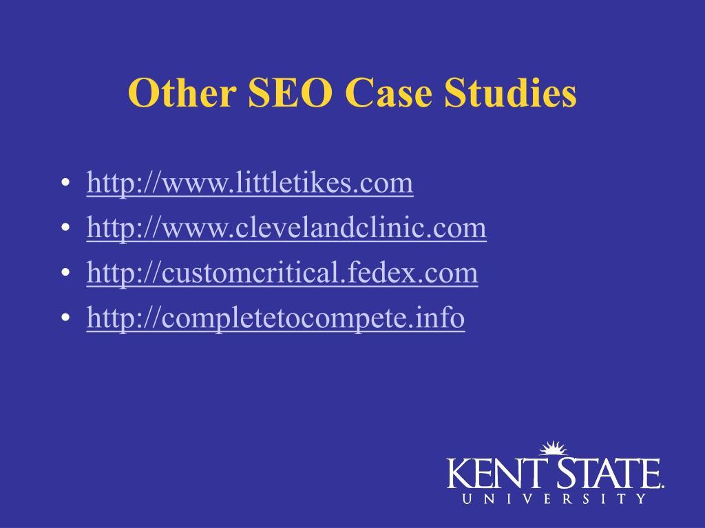 Other SEO Case Studies