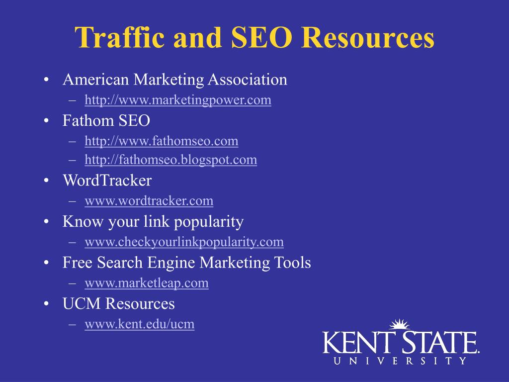 Traffic and SEO Resources