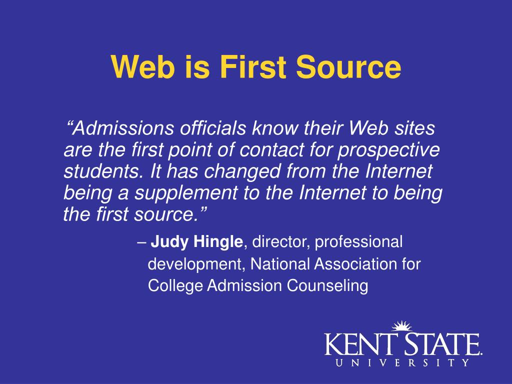 Web is First Source