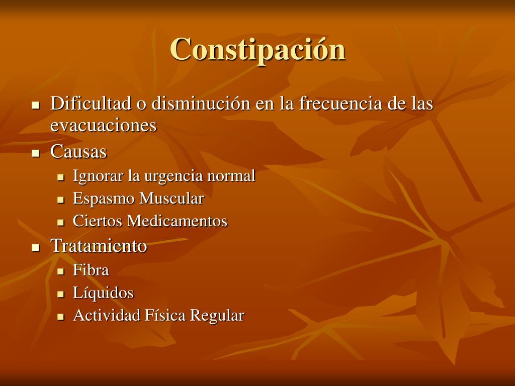Constipación
